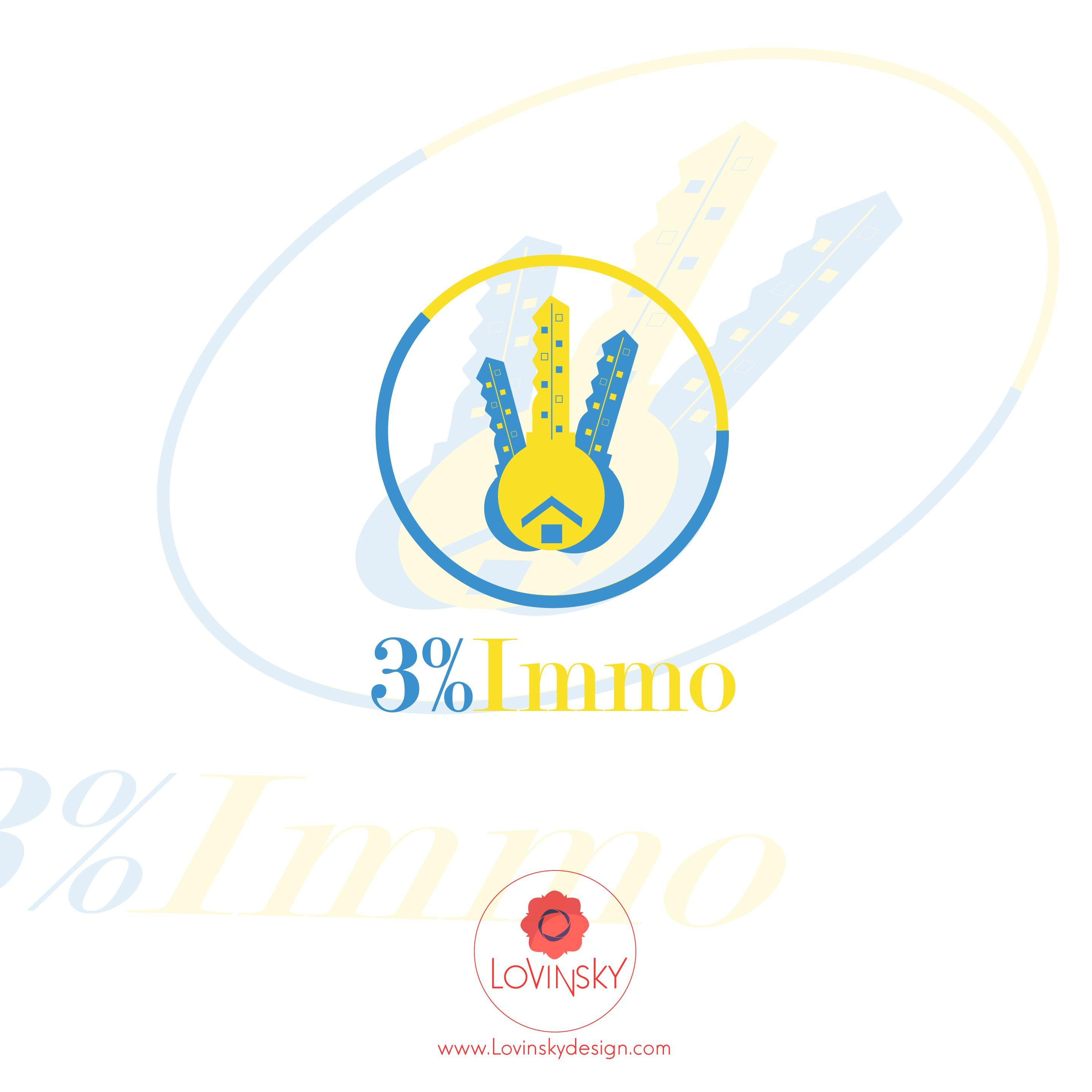 3%-immo logo lovinsky graphiste webdesigner freelance nantes 44