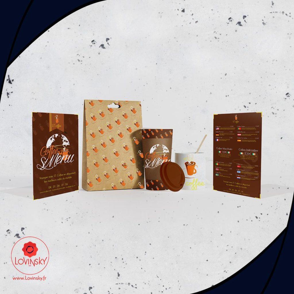café menu identité visuelle by lovinsky design freelance nantes 44000