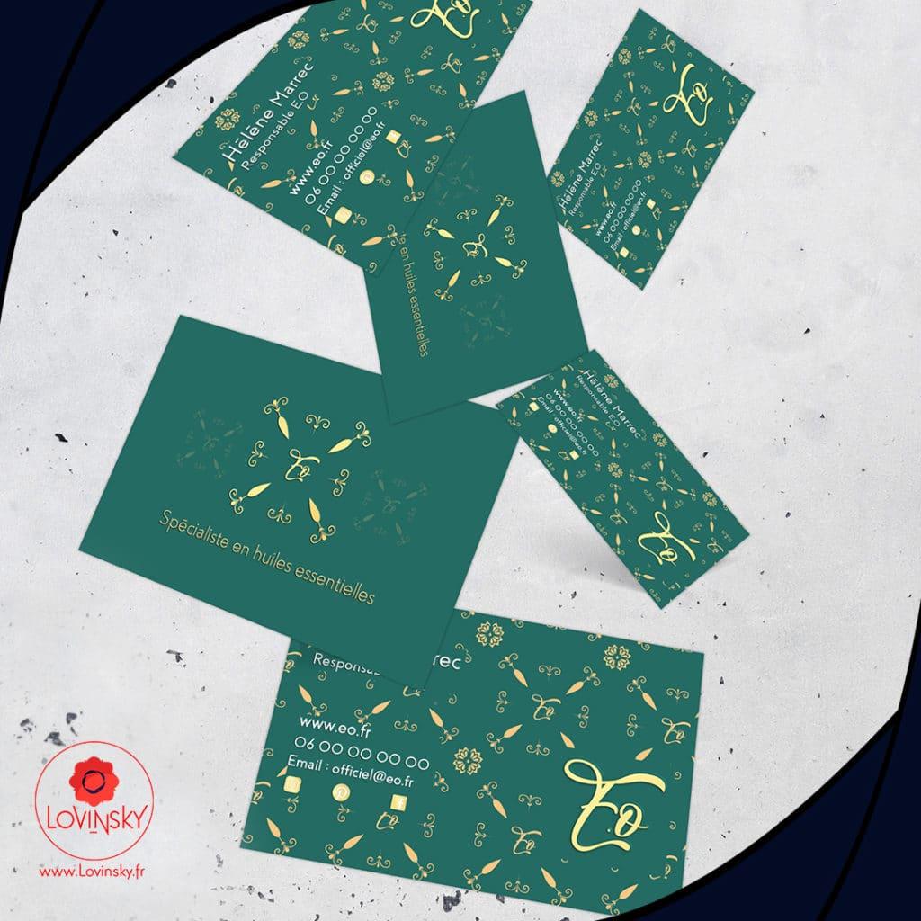 carte de visite huile essentiel élégant lovinsky identité visuelle freelance nantes 44000
