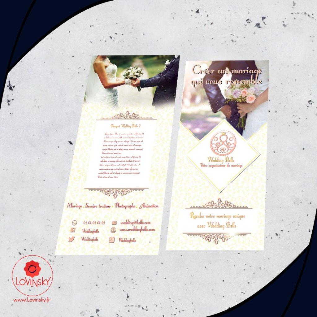 flyer mariage wedding planner lovinsky design graphiste webmaster freelance 44000 nantes