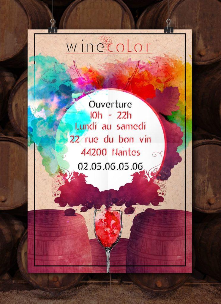 flyer wine color mockup lovinsky graphiste webdesigner freelance nantes 44