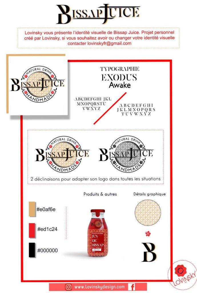 presentation-facebook-bissap-juice-identité-visuelle lovinsky freelance graphiste webdesigner nantes 44