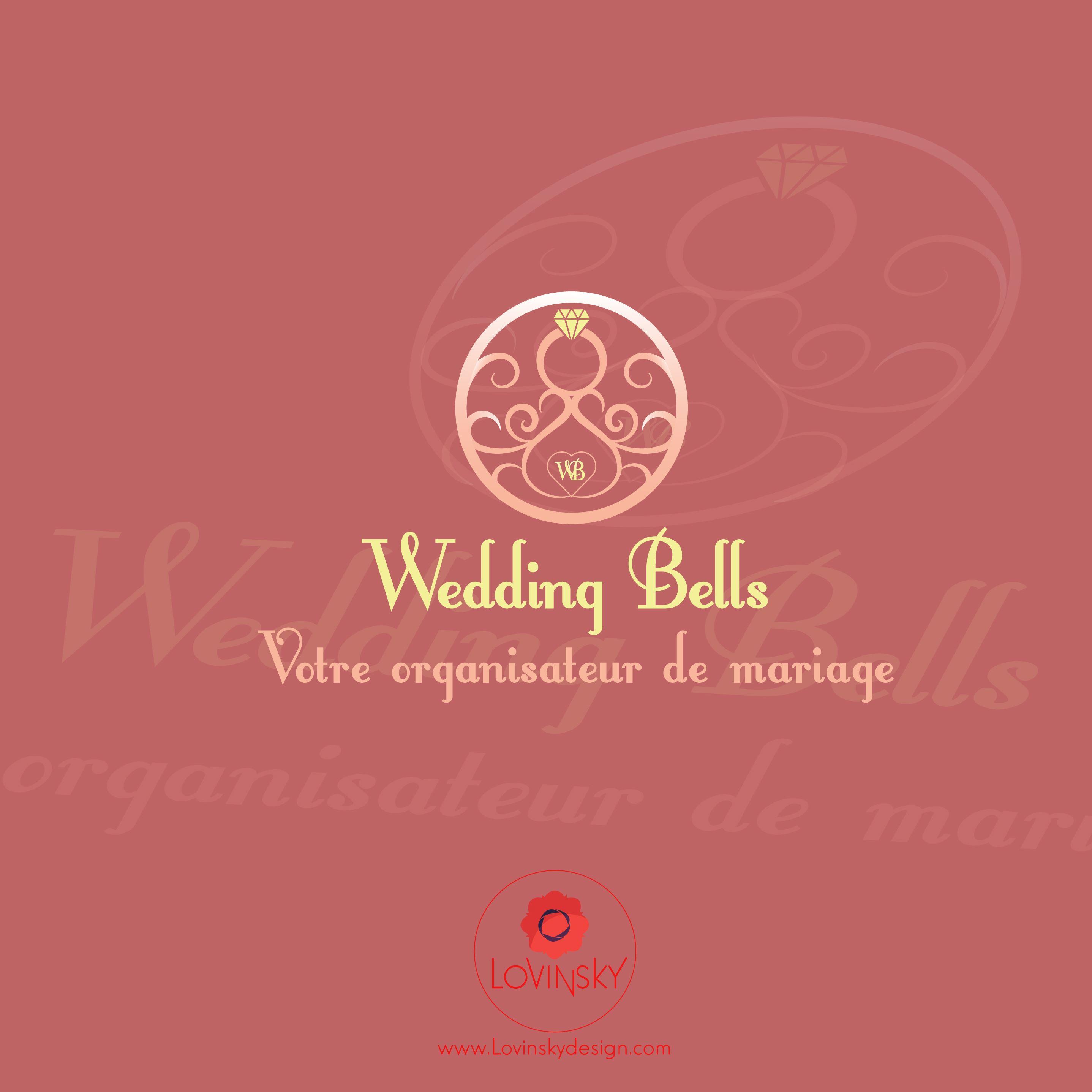 wedding-bells logo lovinsky graphiste webdesigner freelance nantes 44