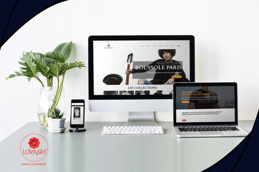Création de site internet boutique ne ligne