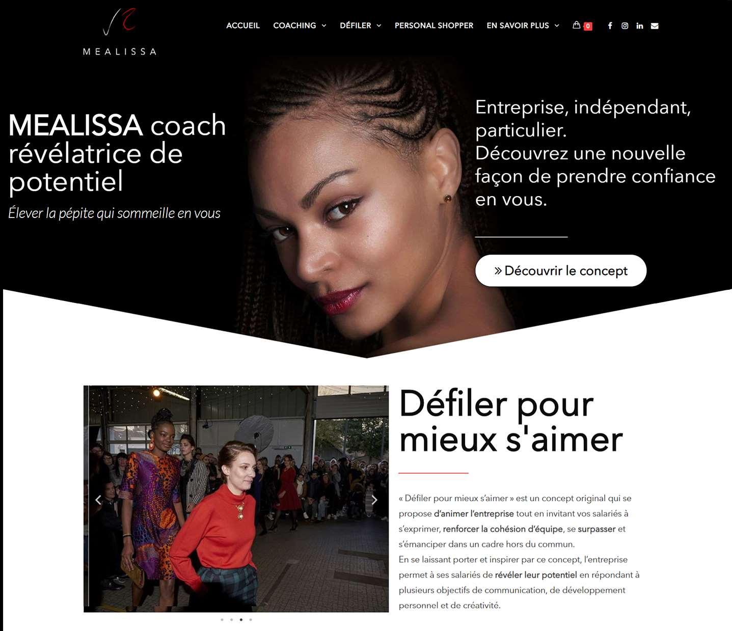 Mealissa-coach révélatrice de potentiel site professionnel graphiste nantes lovinsky