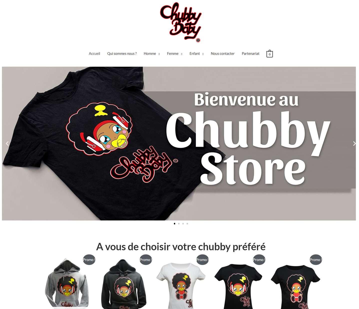 chubby-store boutique en ligne e-commerce de vêtement pour enfant fait par lovinsky freelance à nantes