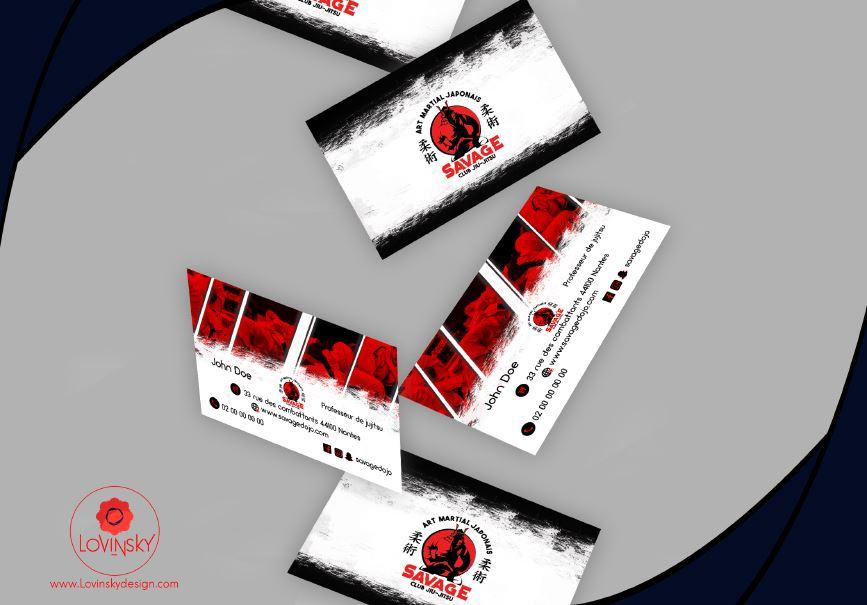 jiu jitsu carte de visite graphiste webdesigner nantes