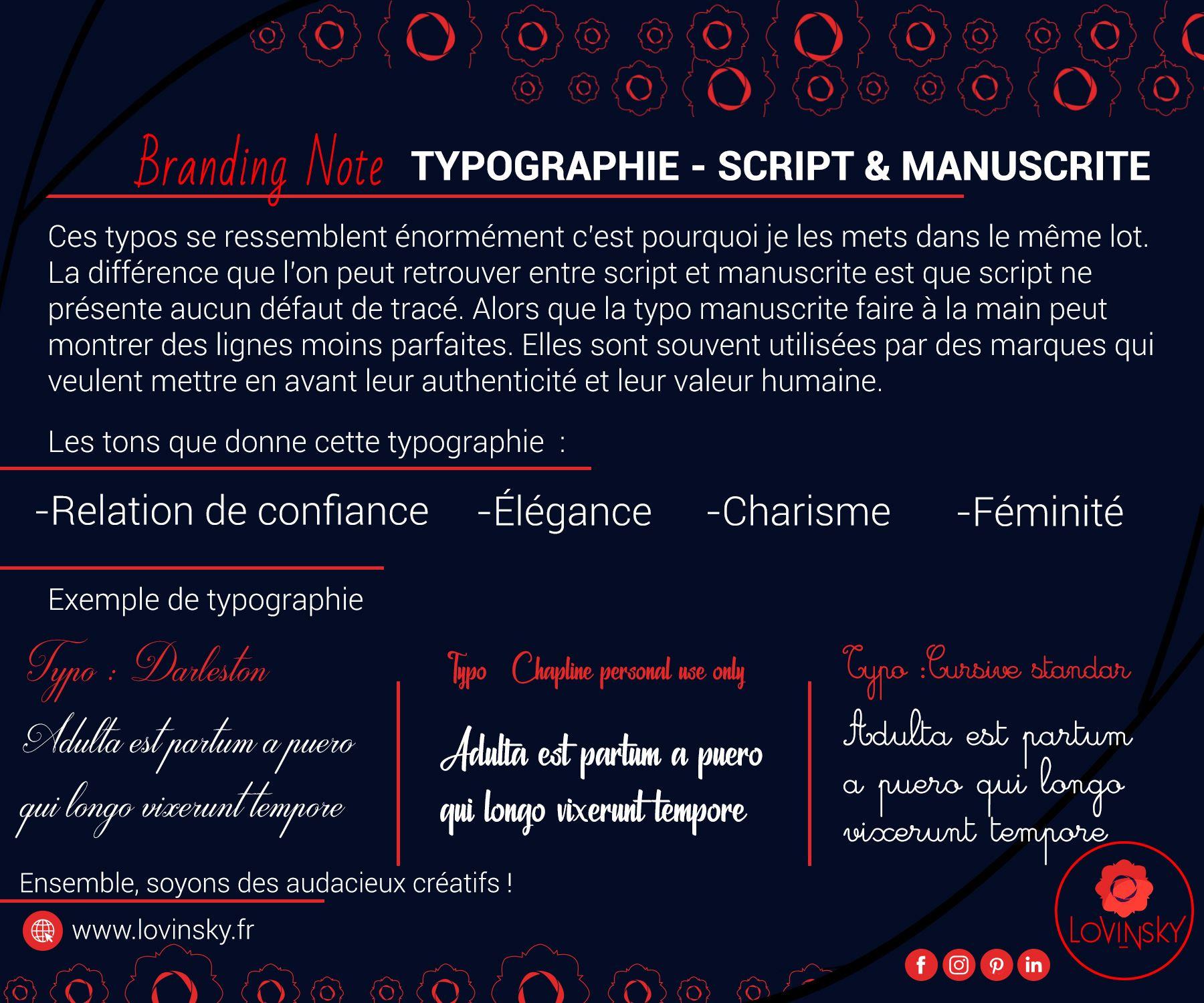 typographie-Script-&-manuscrite branding note par lovinsky graphiste webdesigner à nantes en freelance